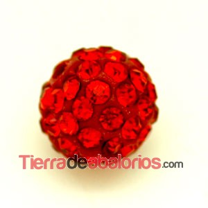 Bola Shamballa 8mm Agujero 1mm Light Siam