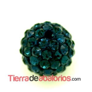 Bola Shamballa 10mm Agujero 1mm Dark Indigo