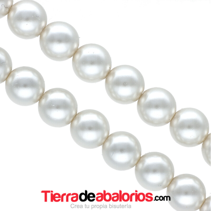 Perla Swarovski 8mm Crystal White