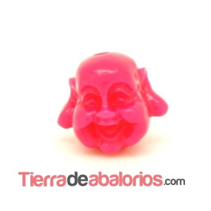 Happy Buddha 19x21mm Agujero 1,8mm Fucsia