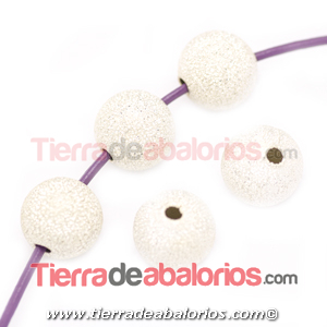 Bola Brillo 8mm Agujero 1,5mm, Plateada