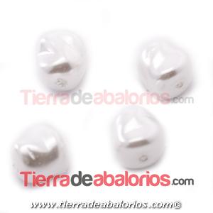 Perla Barroca Irregular 9x9mm Blanca