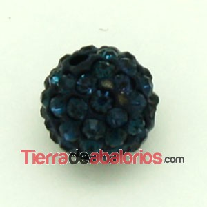 Bola Shamballa 8mm Agujero 1mm Dark Indigo