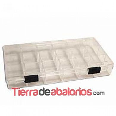 Caja Metacrilato 21x10mm - 18 Compartimentos