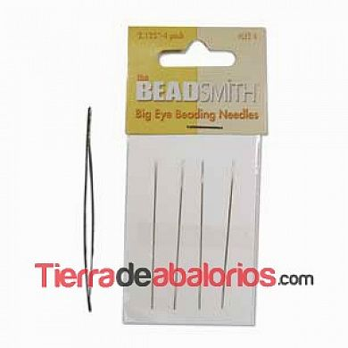 Agujas de Enfilar Big Eye de 5,4cm.