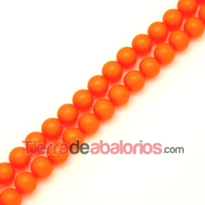 Perla Swarovski 8mm Crystal Neon Orange