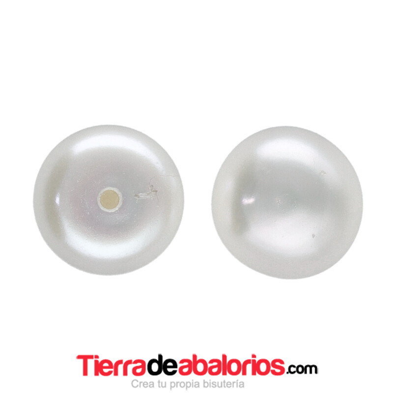 Perla Cultivada Media Bola 10mm (medio taladro)