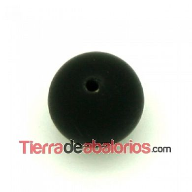 Lava Sintética Bola 10mm Agujero 1,2mm Negro Mate