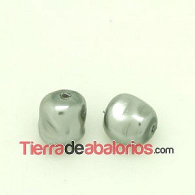 Perla Barroca Irregular 12x11mm Gris