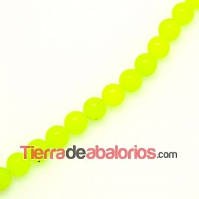 Agata Bola 8mm Agujero 1mm Lima Fluorescente