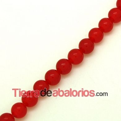 Agata Bola 8mm Agujero 1mm Cereza
