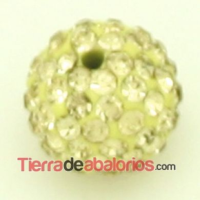 Bola Shamballa 10mm Agujero 1mm Golden Shadow