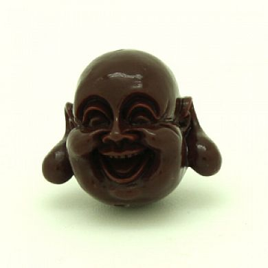 Happy Buddha 19x21mm Agujero 1,8mm Marrón Chocolate